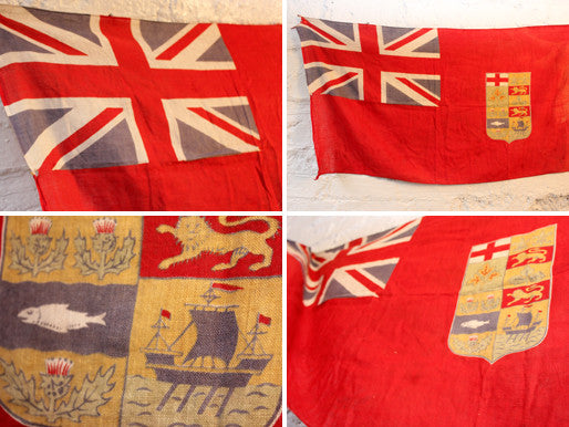 A Scarce Antique Canadian Red Ensign Flag c.1900