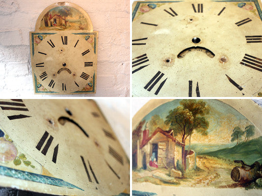 An Attractive 19thC Painted Grandfather Clock Dial