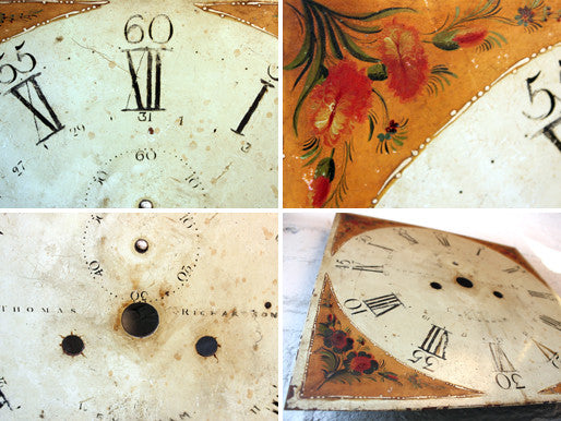 A Fine c.1800 Painted Grandfather Clock Dial by Thomas Richardson of Weaverham