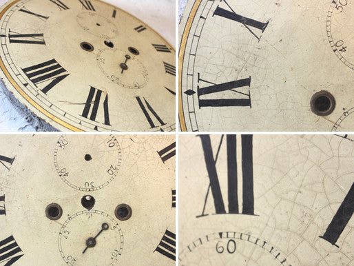 An Attractive 19thC Circular Painted Grandfather Clock Dial
