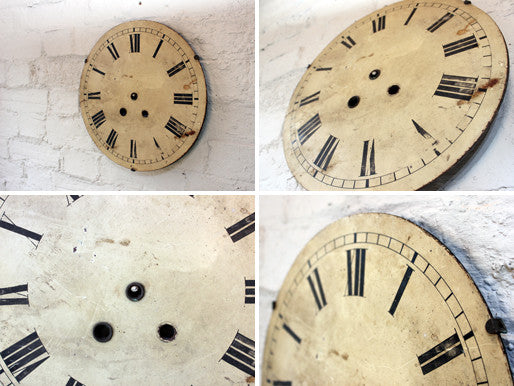 A Handsome 19thC Circular Painted Grandfather Clock Dial