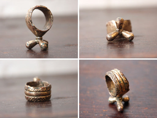 A Rather Unusual Antique Bronze Ring