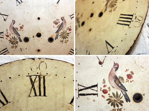A Pretty 19thC Circular Painted Grandfather Clock Dial