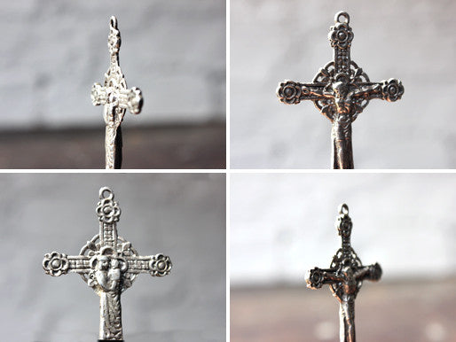A Beautiful Post Medieval Silver Bifacial Cross Pendant; ex Sir Francis Cook Collection