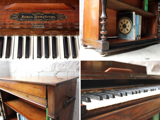 An Unusual James Humphreys c.1890 Figured Walnut Organ, Converted to a Bookcase
