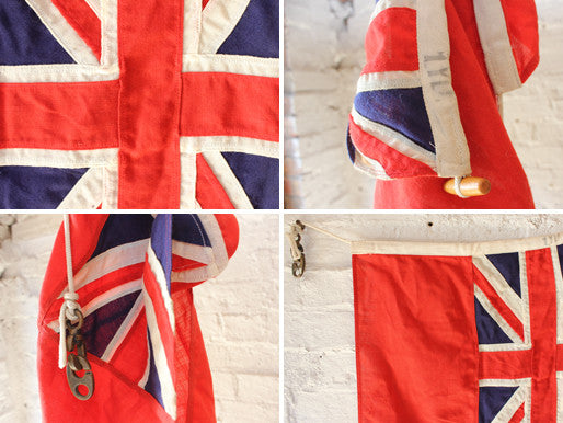 A Fine Quality British Antique Royal Navy Red Ensign Flag