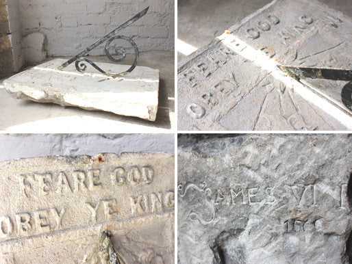 A Magnificent Stone Wall Sundial; 'Feare God Obey Ye King'