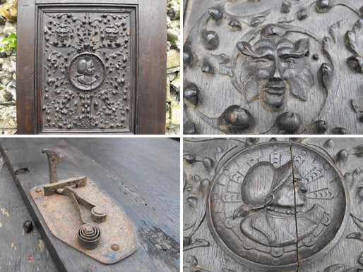 An Intricately Carved Renaissance Style Early 19thC Oak Door Panel