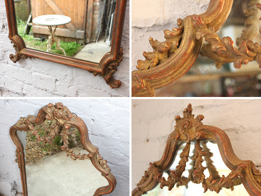 A Decorative Early 20thC Gilt Composition Wall Mirror
