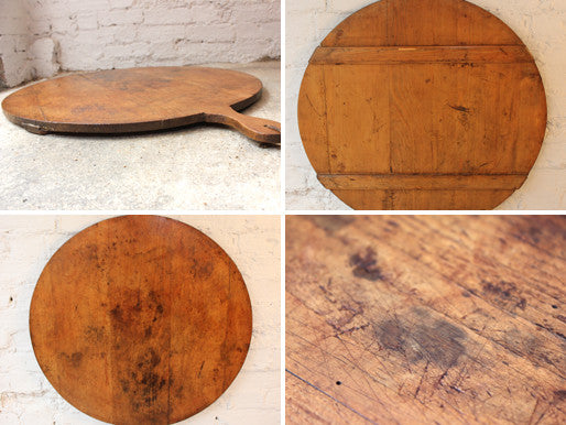 A Very Large Early 20thC French Rustic Country Oak Cutting Board
