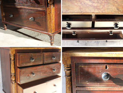A Handsome Victorian Painted Pine Chest c.1860-70