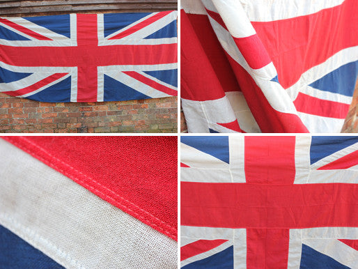 A Quality Large Vintage Appliqué Union Jack Flag