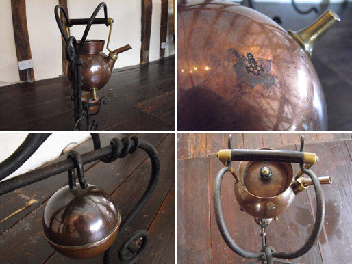 An Arts & Crafts Kettle, Stand, & Burner, designed by Christopher Dresser for Benham & Froud