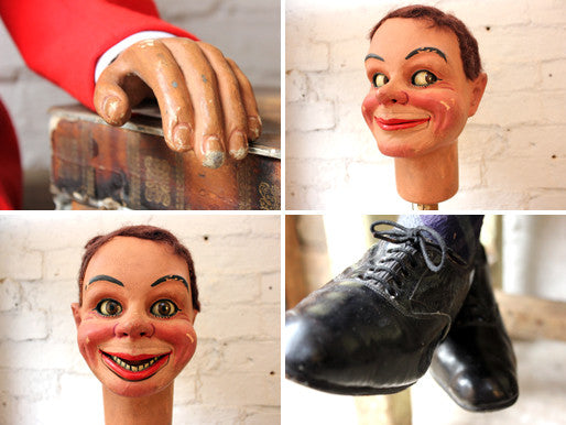 A Fine Quality Mid 20th Ventriloquist's Dummy Attributed to Leonard Insull