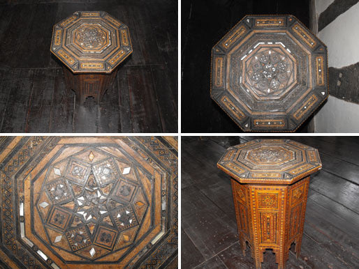 A Profusely Inlaid Occasional Moorish Table