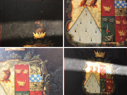 A Fine c.1815 Coach Panel Armorial: The Marital Arms of Lieutenant General Samuel Need & Annie Grant