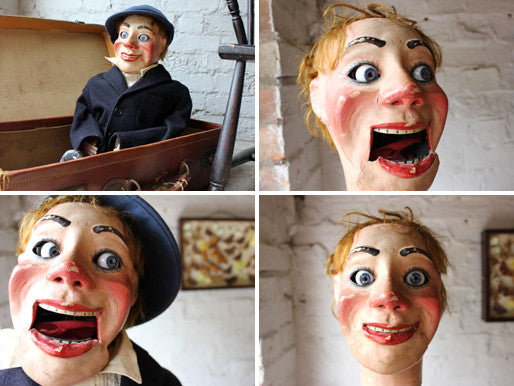 A Superb Early 20thC Cased Ventriloquist's Dummy Attributed to Arthur Quisto