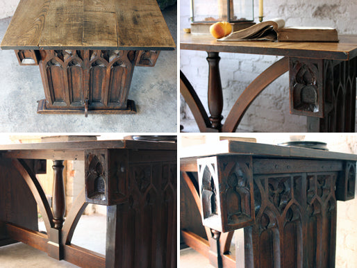 A Wonderful Ecclesiastical Gothic Revival Oak Centre Table in the Manner of A. W. N. Pugin c.1860