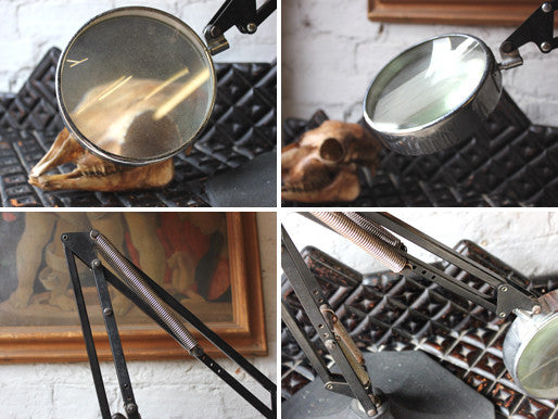 A Good c.1935 Art Deco Anglepoise Style Table Magnifier by N&B Ltd, England