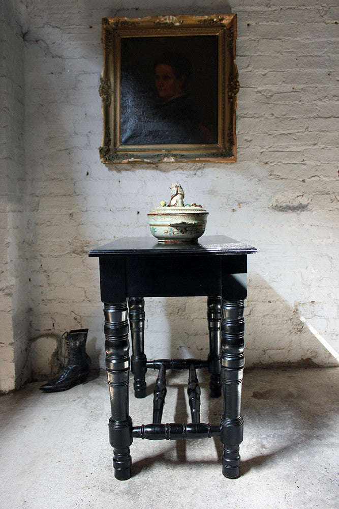 A Fine c.1870 Aesthetic Movement Ebonised Side Table Attributed to Daniel Cottier