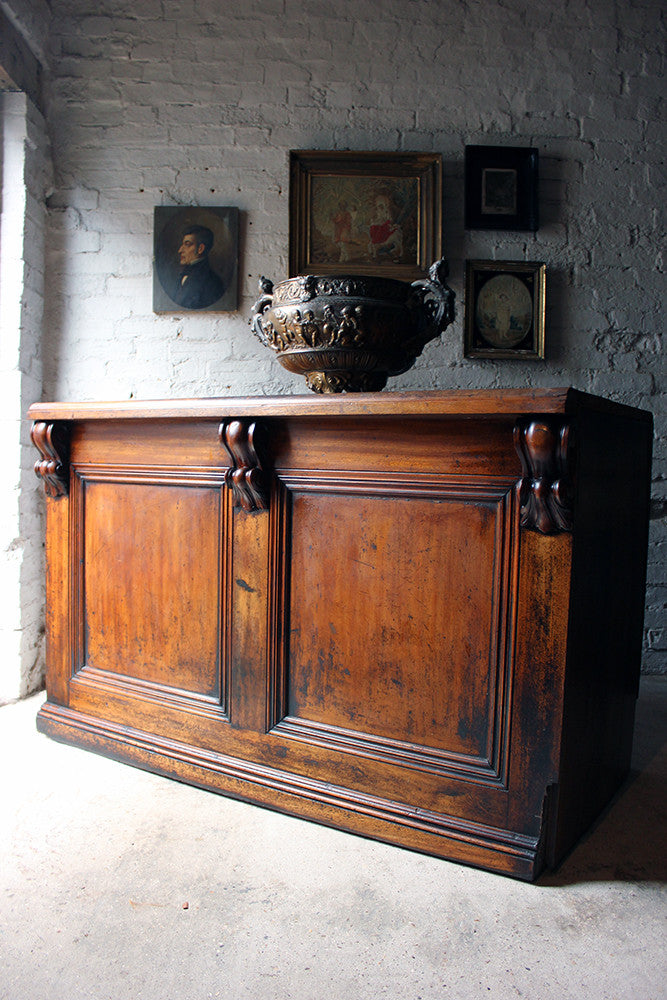 A Fine Quality Victorian Mahogany Six-Drawer Shop Counter c.1870-80