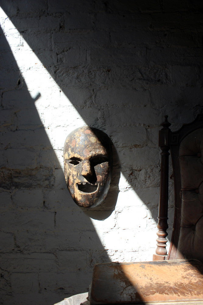 An Unusual 19thC Painted Tribal Mask