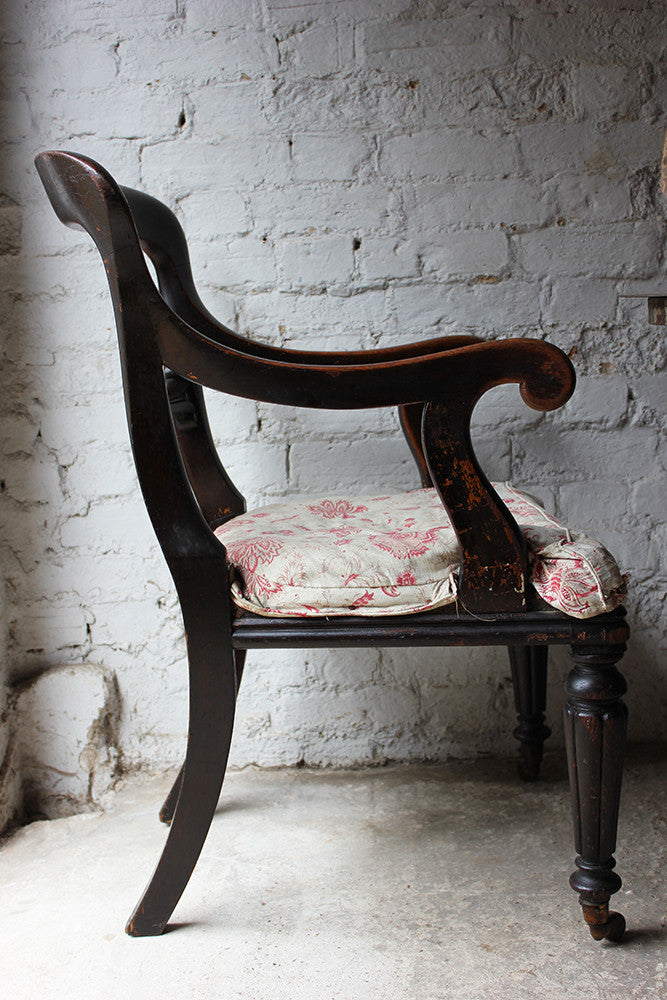 A Very Original Early Victorian Open Armchair c.1840