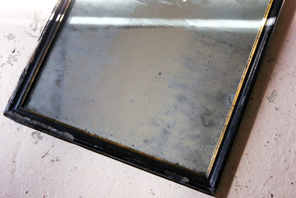 A Victorian Ebonised Mercury Plated Rectangular Wall Mirror c.1875
