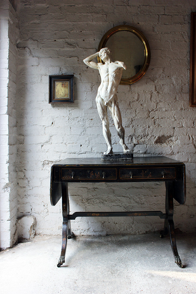 A Large Early 20thC Plaster Écorché Anatomical Figure of a Male by Edouard Lanteri c.1900
