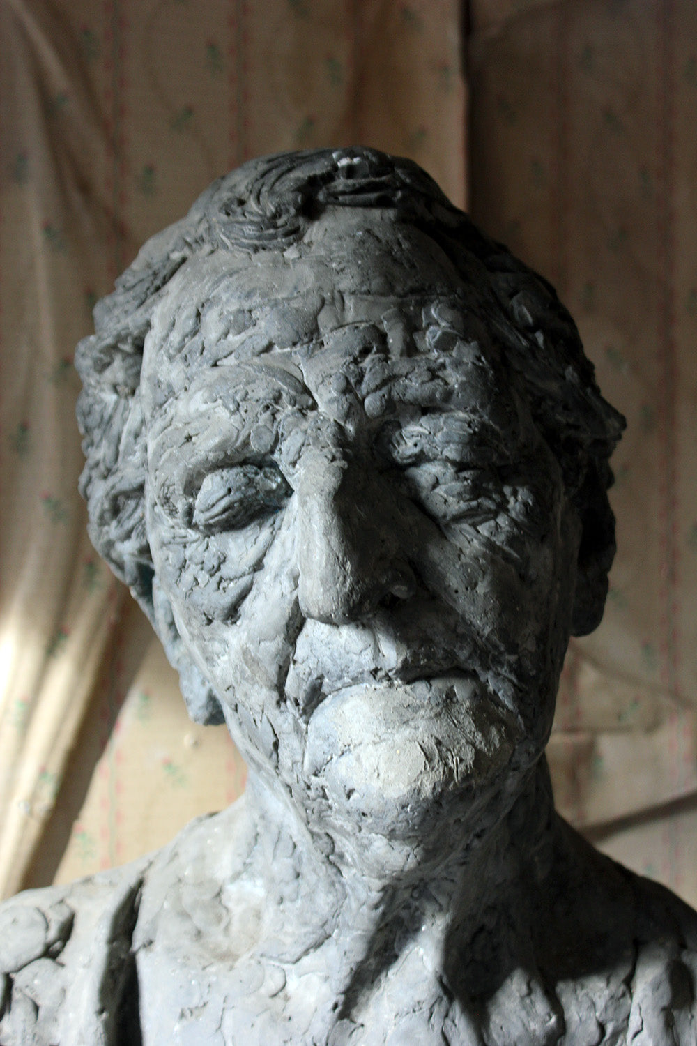 Patrick O'Sullivan (1940-2015); A Painted Fibre Composition Bust of an Elderly Lady