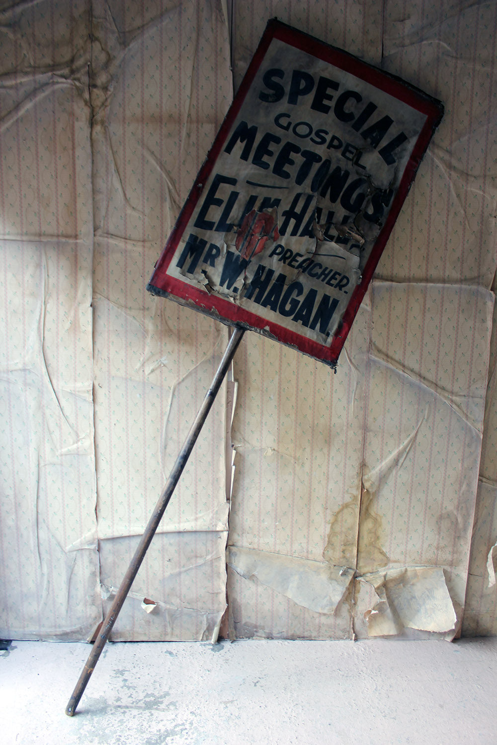 A Double-Sided Scottish Elim Pentecostal Church Movement Placard c.1930-50