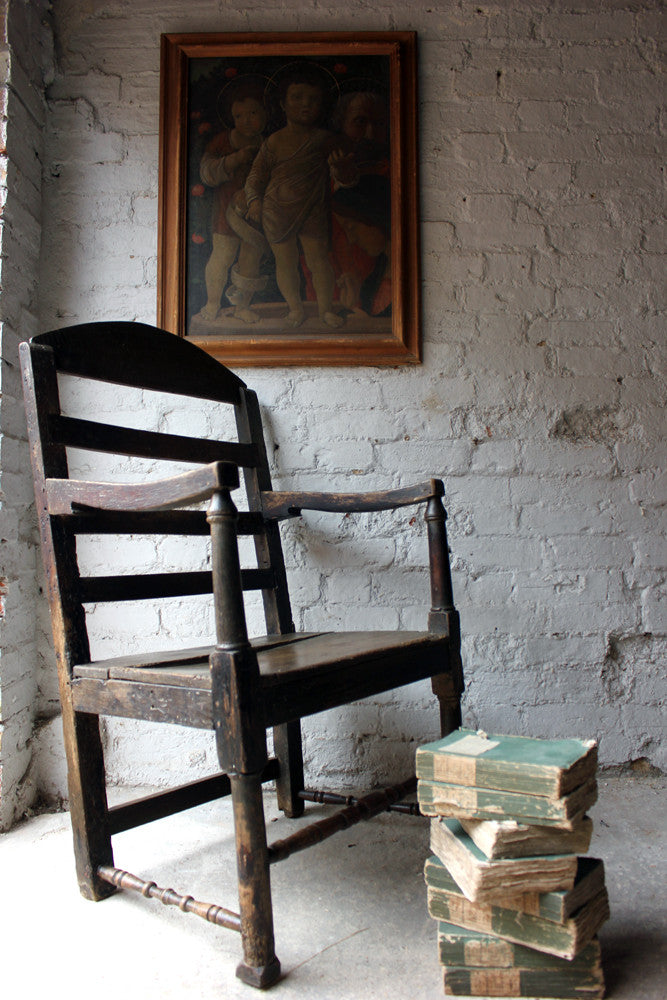 A Charming George II Estate-Made Provincial Open Armchair c.1730
