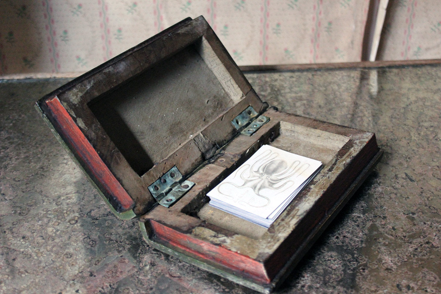 A George III Period Folk Art Painted Book Box c.1800