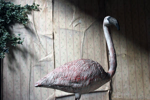 A French Mid-20thC Painted Garden Statue of a Greater Flamingo