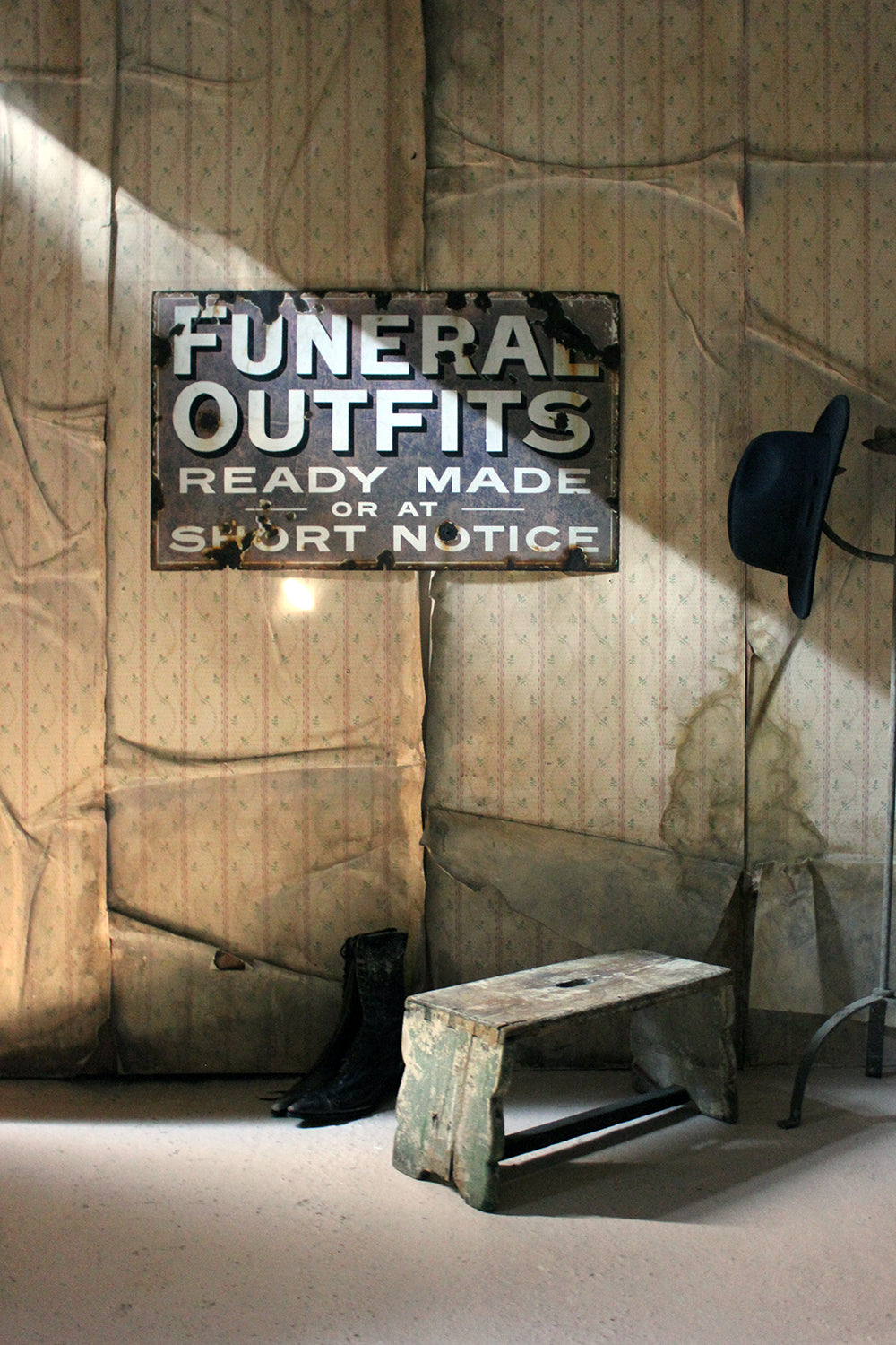 A Scarce Enamel Funeral Outfitters Trade Sign c.1930