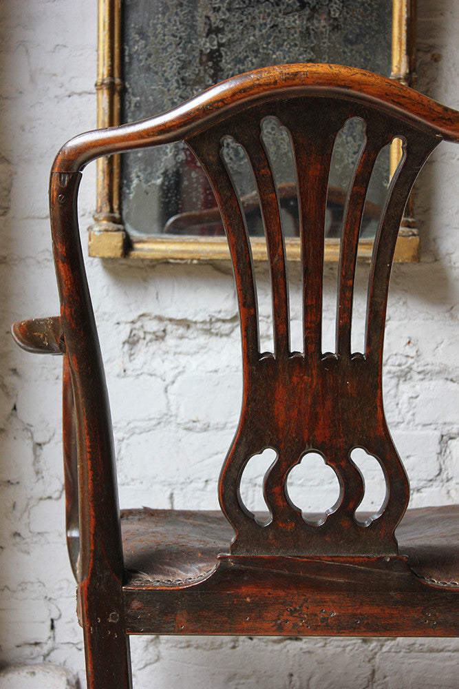 A Charming George III Carved Mahogany Elbow Chair c.1770