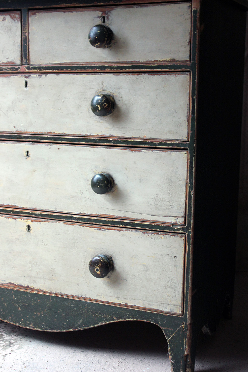 A George III Painted Pine Chest of Drawers c.1810