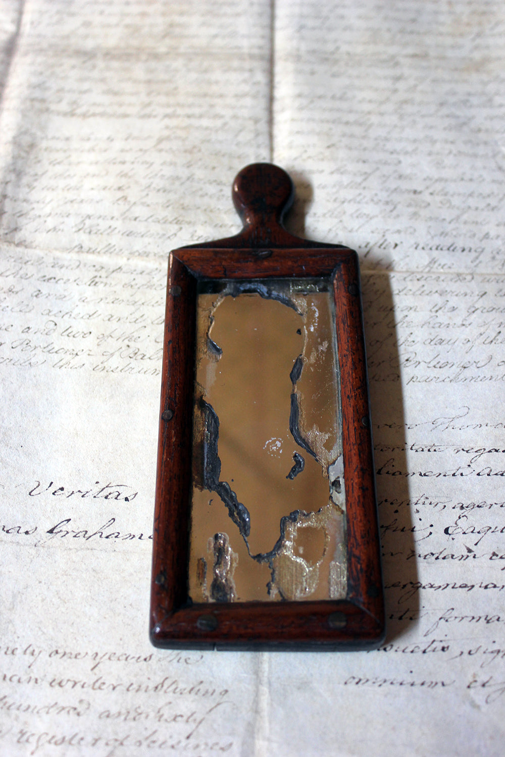A Diminutive George III Period Hand Mirror c.1800