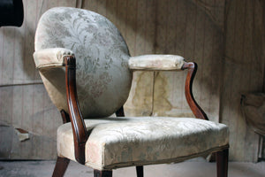 A Late 18thC Scottish Oval-Back Armchair c.1780-90