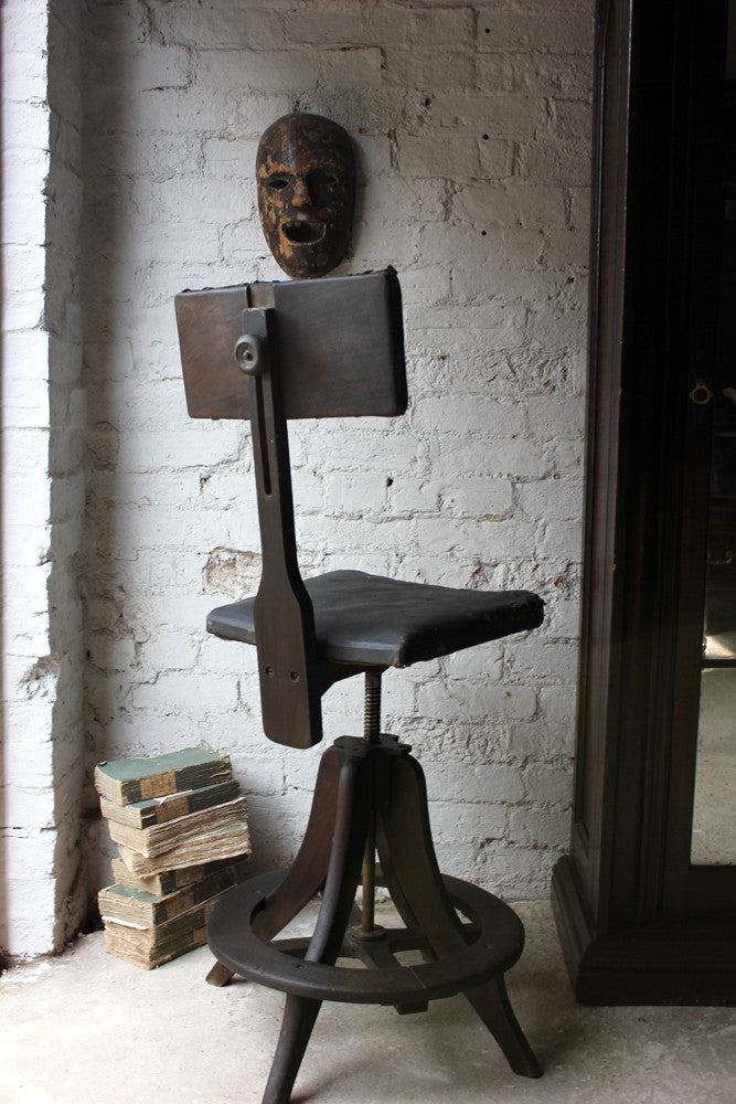 A Good c.1905 Artist's/Draughtsman's Chair By R.Tyzack of High Wycombe