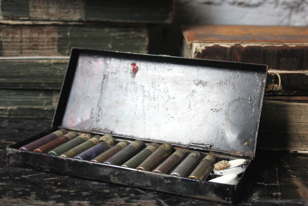 A c.1900 Victorian Watercolour Paint Box; 'The Gainsborough Gold Colour Box'