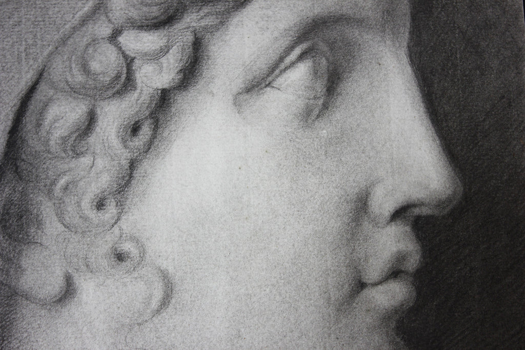 A Fine Late 18thC Italian School Grand Tour Charcoal Study of Ganymede; Naples; 1797
