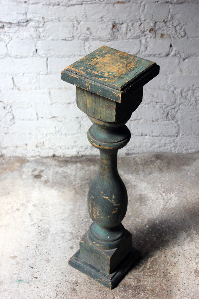 A Decorative 20thC Painted Pine Baluster Pedestal c.1930-40