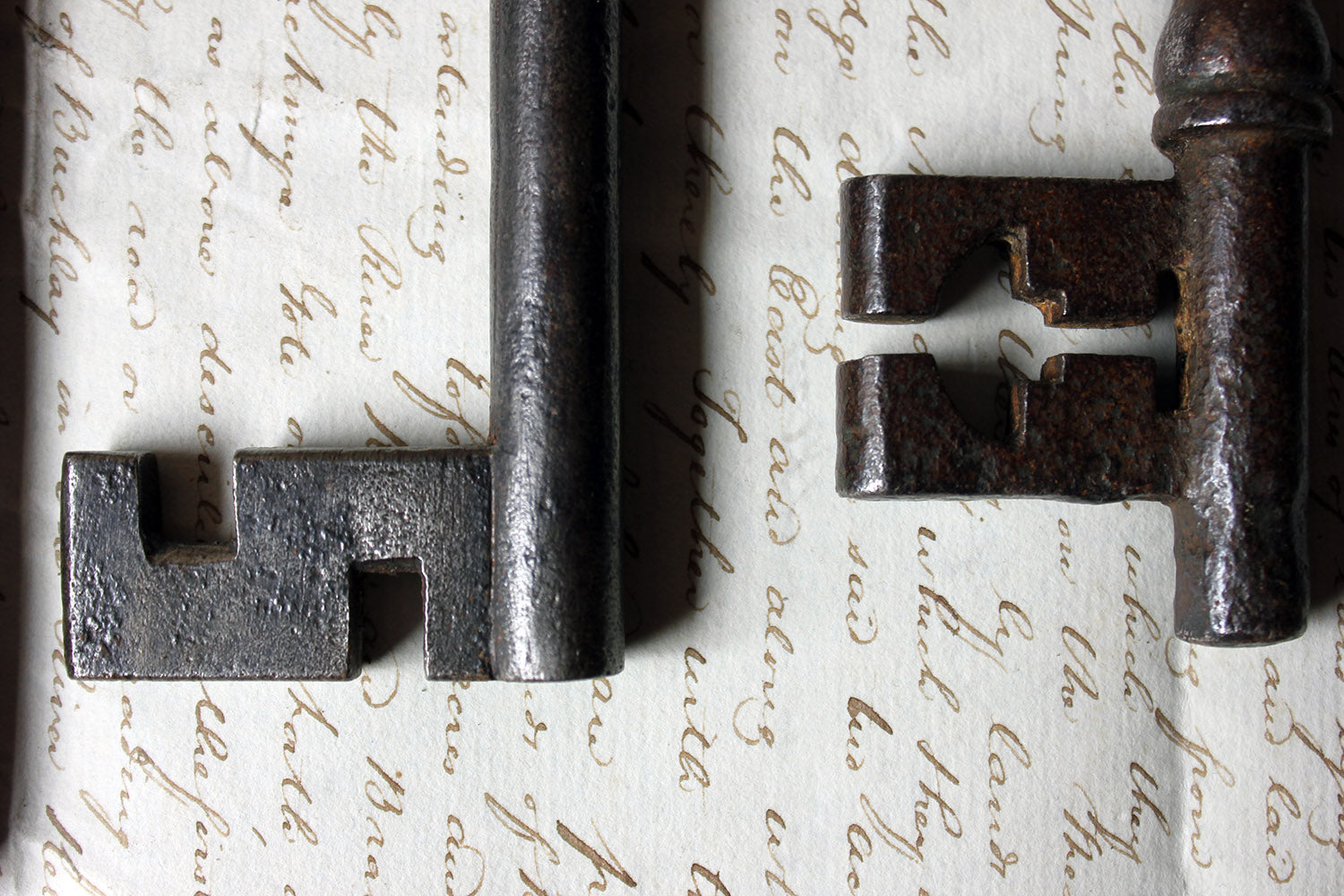 A Collection of Seven Antique Keys c.1790-1850