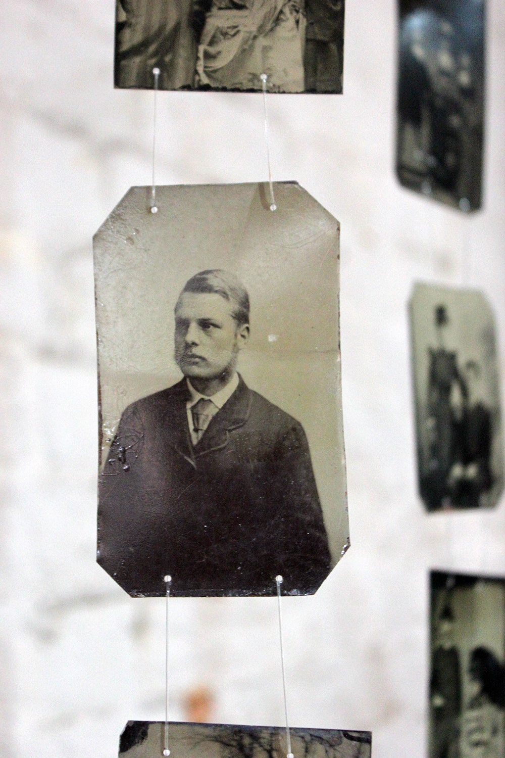 'Remember Us?'; A Vast Collection of 150 19thC Tinplate Portrait Photographs c.1850-1900