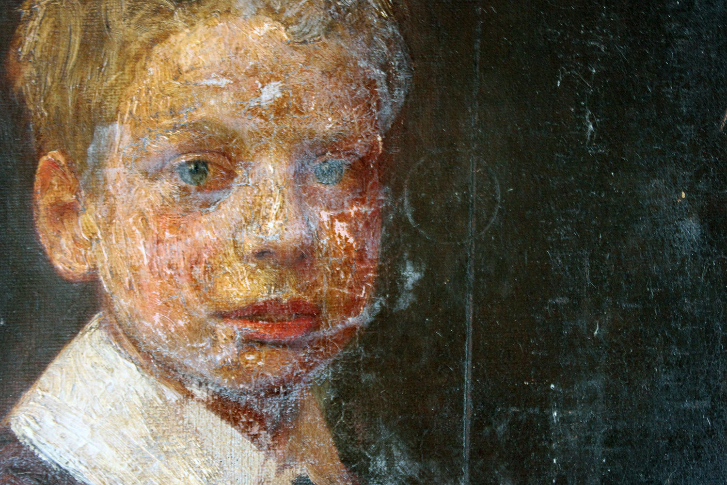 An English School Oil on Canvas Portrait of Master Ronald C. Pilsbury by Harry C. Pilsbury c.1900-10