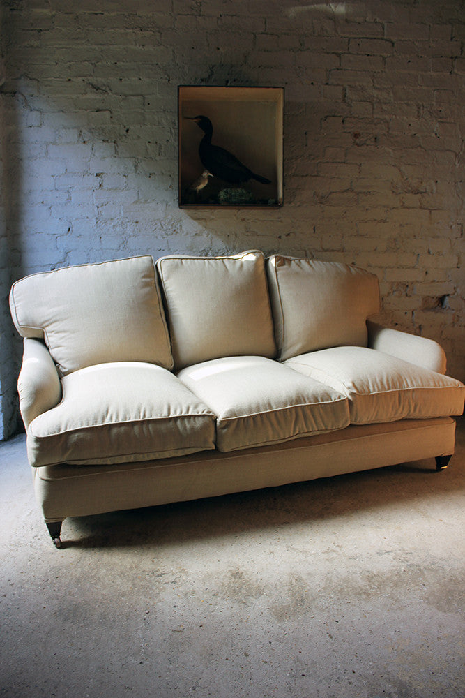 A Good Quality Upholstered Victorian Three-Seater Sofa in the Manner of Howard & Sons c.1890-1900