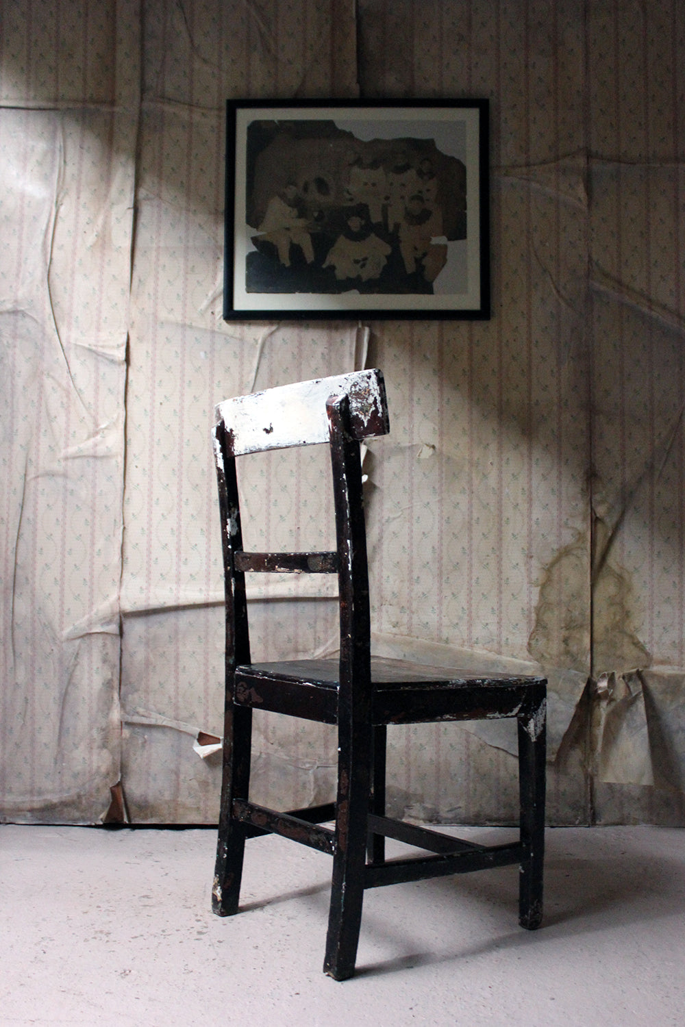 A Mid 19thC Irish Painted Carpenters Side Chair c.1840
