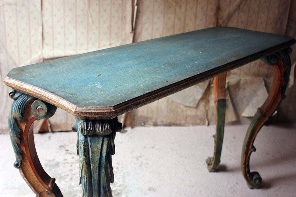 A Principally 18thC Italian Painted Centre Table