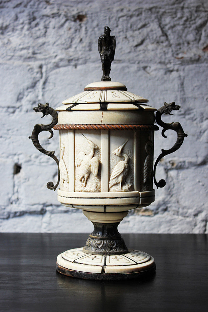 A Beautiful 19thC North Italian Ornamental Cup and Cover c.1860